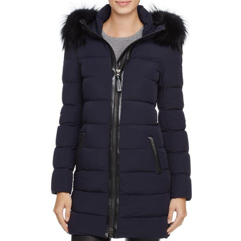 Mackage Womens Calla Down Jacket, Navy, Size XSmall