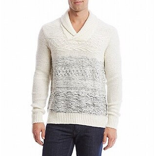 Calvin Klein NEW Ivory Mens Size Large L Shawl Collar Boucle Sweater