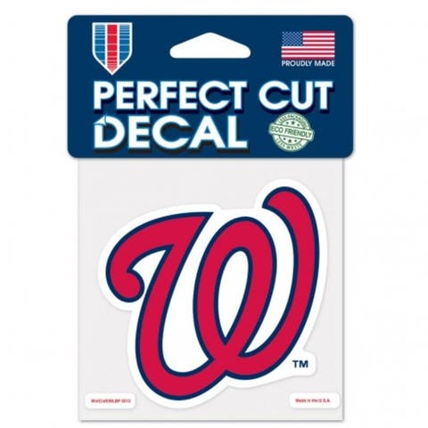 Washington Nationals Decal 4x4 Perfect Cut Color