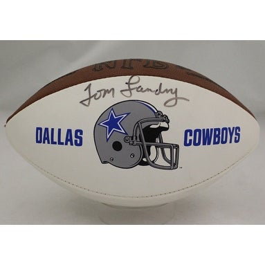 ba3af8b1d28 Shop Tom Landry Autographed Dallas Cowboys Logo Football JSA - Free  Shipping Today - Overstock - 19587106