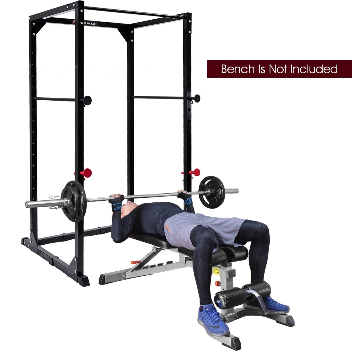 ae6c0fa7d6d Shop Goplus Power Rack Pull Chin Up Bars Squat Lift Cage Fitness Workout  Strength Training - Black - On Sale - Free Shipping Today - Overstock -  19567352