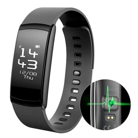 Waterproof Smart Fitness Tracker Heart Rate Count Wrist Bracelet Watch Band for iphone Android - SIZE