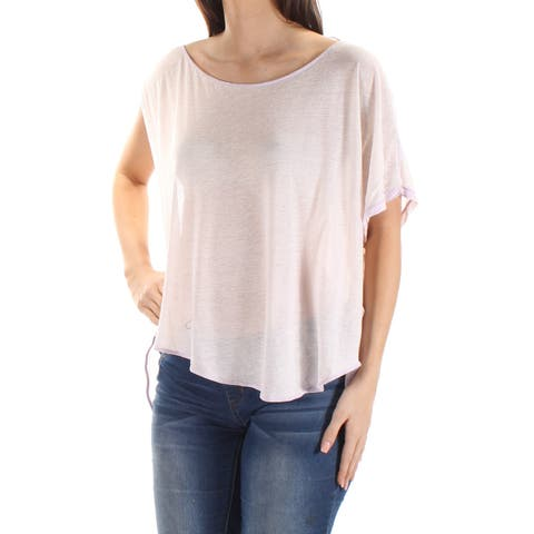 WE THE FREE Womens Ivory Dolman Sleeve Boat Neck HiLo Top Size: L