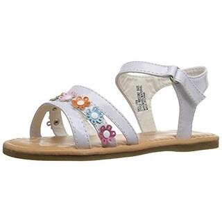 Rugged Bear Patent Toddler Sandals - 9 medium (b,m)