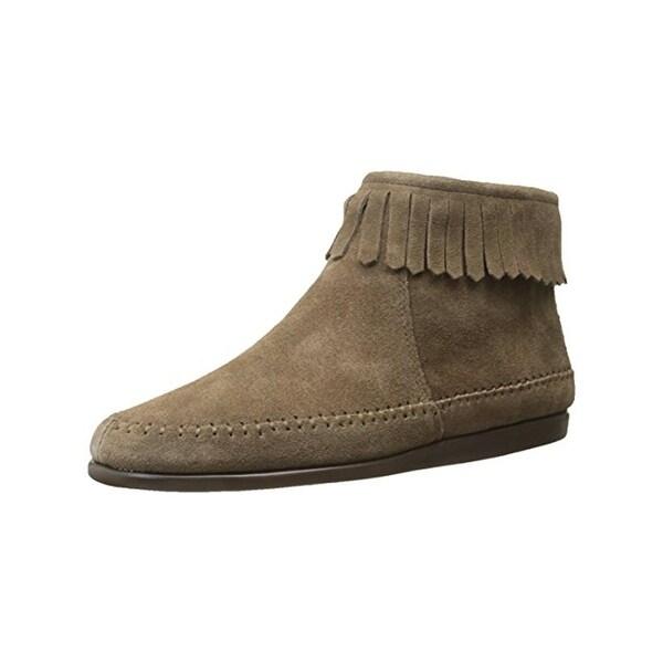 Aerosoles Womens Linbo Moccasin Boots Suede Fringe - 6.5 medium (b,m)