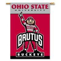 Ohio State University Buckeyes 2-Sided House Flag/Banner