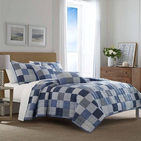 Nautica Holly Grove Blue Quilt Set