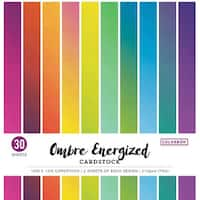 "Colorbok 78Lb Single-Sided Printed Cardstock 12""X12"" 30/Pkg-Ombre Energized"