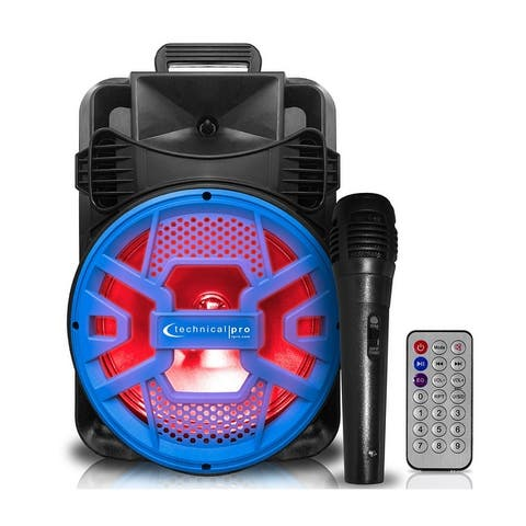 Technical Pro 2000 Watts Rechargeable 20 Inch Bluetooth LED Speaker with USB/SD Card Inputs & FM Radio