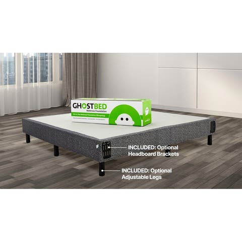 GhostBed All-in-One Metal Foundation/Box Spring with Easy Assembly