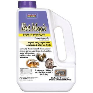 Bonide 863 Rat Magic Rodent Repellent, 5 lbs|https://ak1.ostkcdn.com/images/products/is/images/direct/8bf1e7968fc2f7e35f4e1650713d34457ac87125/Bonide-863-Rat-Magic-Rodent-Repellent%2C-5-lbs.jpg?impolicy=medium