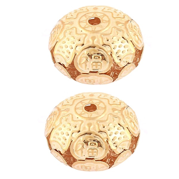 Lantern Shaped Hollow out Hanging Bell Decor 2pcs