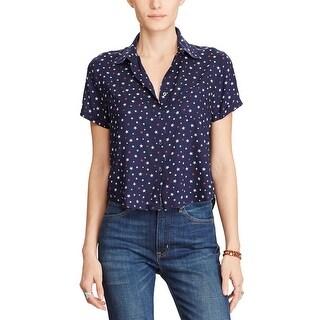 Denim Supply Ralph Lauren Cropped Star Print Shirt New Star Print - xs