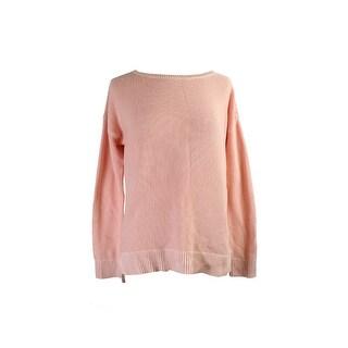 Lauren Ralph Lauren Pink Textured Crew Neck Sweater M
