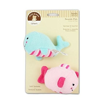 Child of Mine Seaside Pals Bath Set - Sponge & Squirter - Blue and Pink