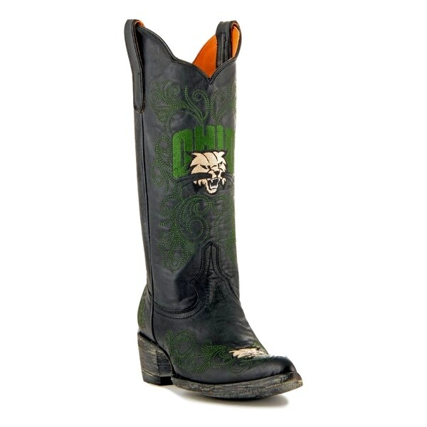Gameday Boots Womens College Team Ohio Bobcats Black Green