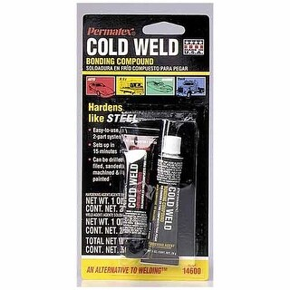 Permatex 14600 Cold Weld Bonding Compound, Two 1 Oz Tubes