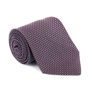 Tom Ford Mens Burgundy Silk Blend Micro Square 4 Inch Wide Neck Tie - One size