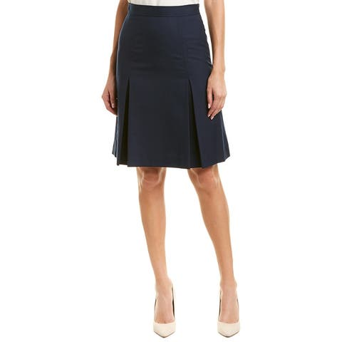 Brooks Brothers Wool-Blend A-Line Skirt