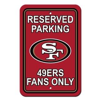 """""""FREMONT DIE Inc San Francisco 49er's Plastic Parking Sign - Reserved Parking Plastic Parking Sign - Reserved Parking"""""""