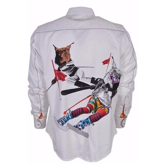 Robert Graham Limited Edition Numbered Skiing Bobcats Sports Dress Shirt XL