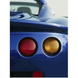 """""""Rear view of sportscar with tail lights"""" Poster Print"""