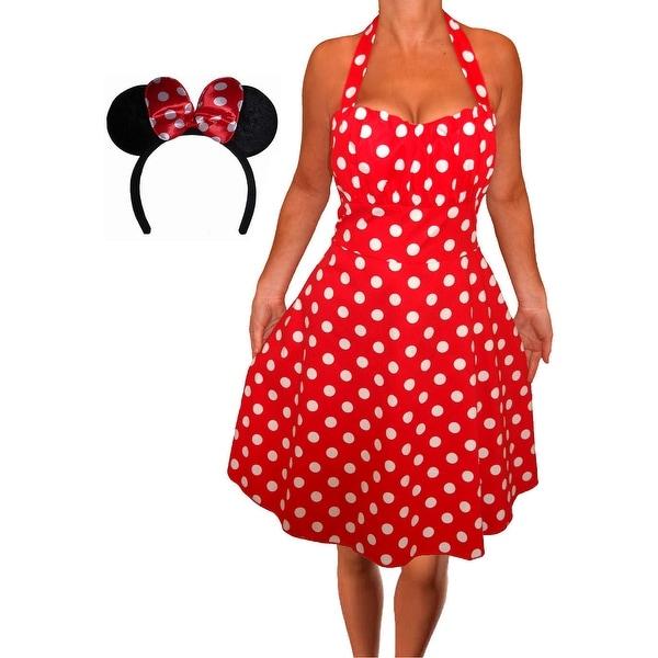 Shop Funfash Plus Size Halloween Costume Red White Dress Minnie ...