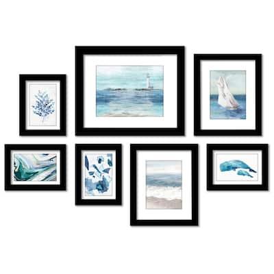 Coastal Breezeby PI Creative - 7 Piece Framed Gallery Wall Art Set