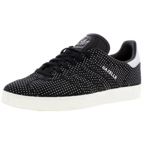 adidas Originals Womens Gazelle Fashion Sneakers Metallic Athleisure - Black/Silver/White