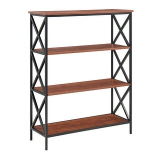 Link to Carbon Loft Ehrlich Metal and Wood 4-shelf Bookcase Similar Items in Bookshelves & Bookcases