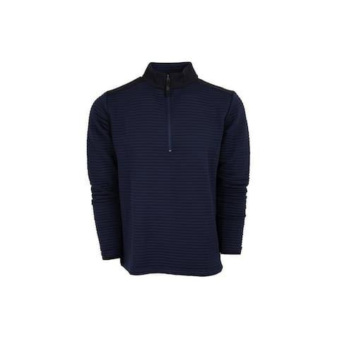 StS Ranchwear Western Sweatshirt Mens Vandon 1/4 Zip Navy