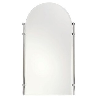 """Ginger 1142 Chelsea 26.4"""" Wall Mounted Portrait Mirror with Beveled Edge"""