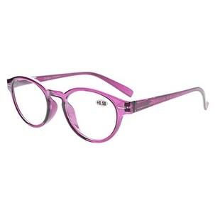 Eyekepper Retro Key Hole Oval Round Readers Spring-Hinges Reading Glasses Purple +0.75