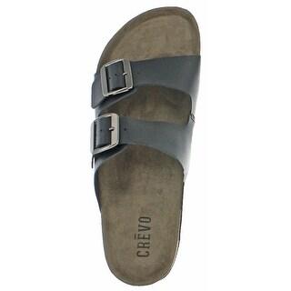 Crevo Sedono Men's Buckle Cork Leather Sandals