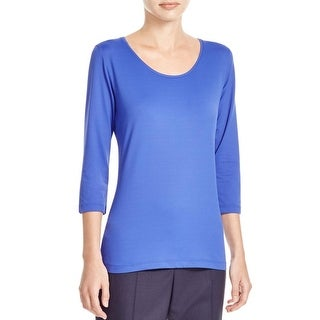 BOSS Hugo Boss Womens Pullover Top Solid Three-Quarter Sleeves - xs