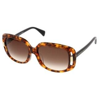 Alexander McQueen AMQ 4237/S 2JI Havana Rectangular Sunglasses