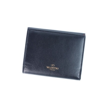 cb3fa5efa4 Shop Valentino Women's Solid Black Leather French Compact Wallet - Free  Shipping Today - Overstock - 17624756