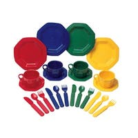 Learning Resources Pretend and Play Dish Set, 24 Pieces