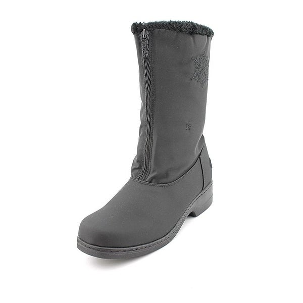 Totes Womens Stride 2 Waterproof Snow boots Fabric Closed Toe, Black, Size 8.0 - 8