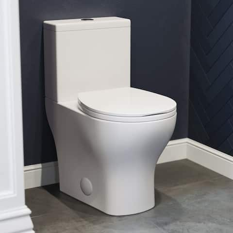 "Sublime II Compact 24"" Length Two Piece Toilet Dual Flush 0.8/1.28 GPF Elongated Bowl"