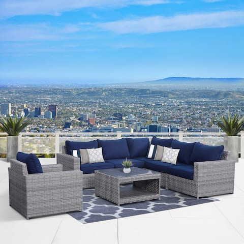 Kensington 7 Piece Sectional Seating Group with Cushions