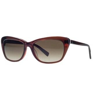 Calvin Klein CK4186/S 241 Russet Clear Rectangular Sunglasses