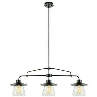Globe Electric 64845 Vintage 3 Light Linear Pendant