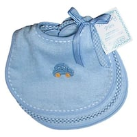 Raindrops 26359B Raindrops Solid Pastel Teething Bib Set, Blue