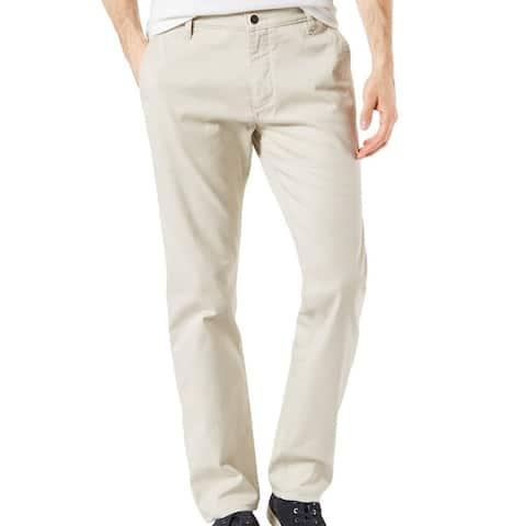 Dockers Mens Pants Beige Size 38X32 All-Seasons Slim Chino Stretch