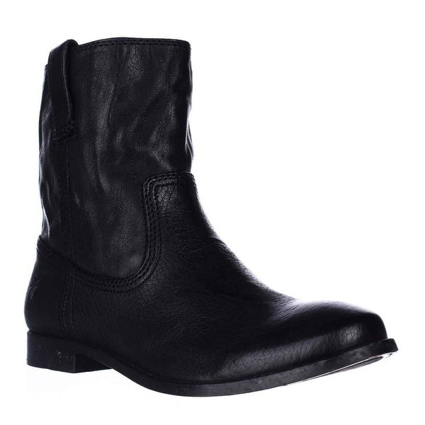 FRYE Anna Shortie Flat Boots, Black
