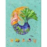 Carolines Treasures 8336CHF 28 x 40 in. Mermaid Flag Canvas House Size