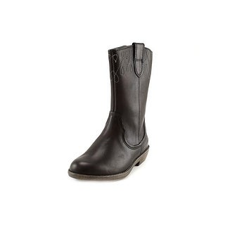 Clarks Narrative Biddie Dress Round Toe Leather Mid Calf Boot
