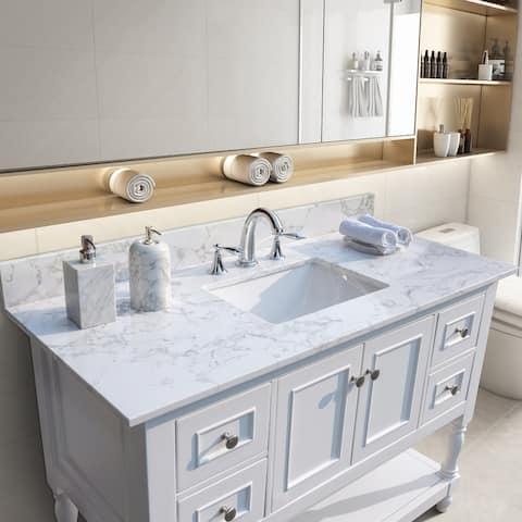 TiramisuBest 43''x22''bathroom vanity tops with sink and back splash