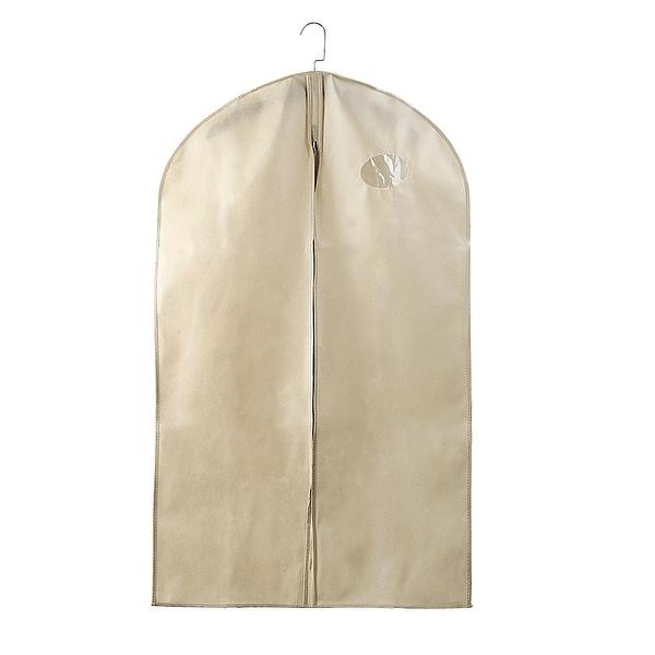 """3 x  Garment Bags Fur Leather Coat Dress Suit  Storage Bag Cover Black 44/"""" x 24/"""""""